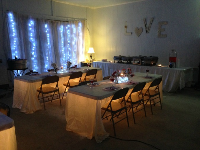 Drape a wall with a gossamer ribbon with fairy lights underneath for a gorgeous look.